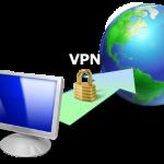 vpn verbinding die tussen de computer en het internet in zit